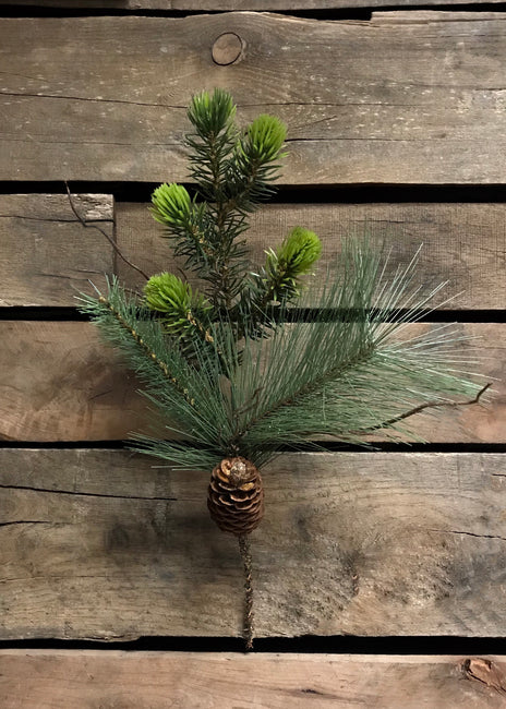 "ITEM 81116 -  15"" PINE AND CONE MIX PICK"
