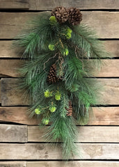 "ITEM 81120 -  28"" PINE AND CONE MIX TEARDROP"