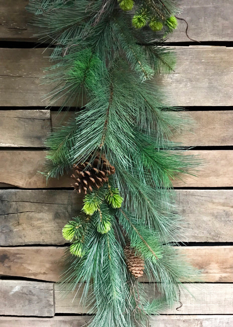 ITEM 81122 -  6' PVC PINE AND CONE MIX GARLAND