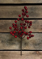 "ITEM 81224 R -  13"" RED OUTDOOR BERRY SPRAY"