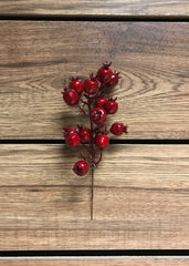 "ITEM 81235 R - 8"" OUTDOOR RED CRANBERRY PICK - 12 PIECES PER BAG"