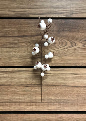 "ITEM 81236 W - 11"" OUTDOOR WHITE BERRY PICK - 12 PIECES PER BAG"