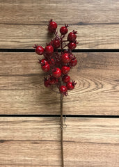 "ITEM 81237 R - 17"" OUTDOOR RED BERRY SPRAY"