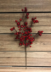 "ITEM 81238 R - 22"" OUTDOOR RED BERRY SPRAY"