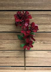 "ITEM 81242 - 28"" VELVET RED RHODODENDRON SPRAY"