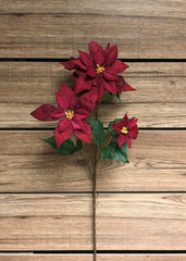 "ITEM 81243 - 26"" VELVET RED POINSETTIA SPRAY"