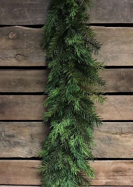 ITEM 81265 - 6 FOOT REAL TOUCH CEDAR AND HEMLOCK GARLAND