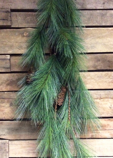 "ITEM 81302 - 53"" PINE MULTI STRAND GARLAND WITH PINE CONES"