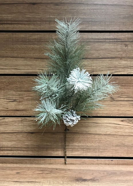 "ITEM 81324 - 20"" FROSTED GLITTERED MIXED PINE SPRAY"