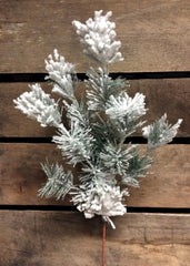 "ITEM 81337 - 17"" SNOWED SPLIT PINE SPRAY X 6"