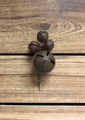 "ITEM 81354 - 8"" BROWN JINGLE BELL X 4 WITH CLIP"