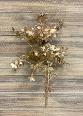 "ITEM 81360 GD - 22"" GOLD METALLIC LEAVES SPRAY"