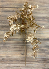 "ITEM 81361 GD - 39"" GOLD METALLIC LEAVES SPRAY"