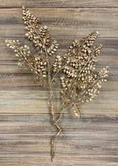 "ITEM 81362 GD - 24"" GOLD METALLIC FERN SPRAY"