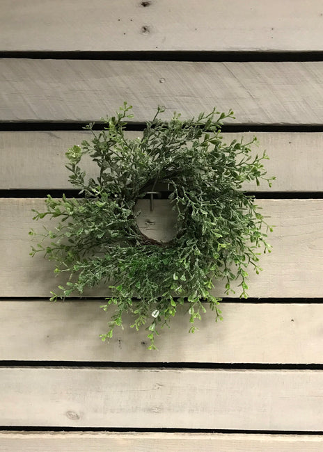 "ITEM 81380 - 13"" GLITTERED EUCALYPTUS WREATH"