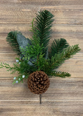 "ITEM 81407 - 12.5"" AUSTRALIAN PINE SPRAY WITH PINE CONE"