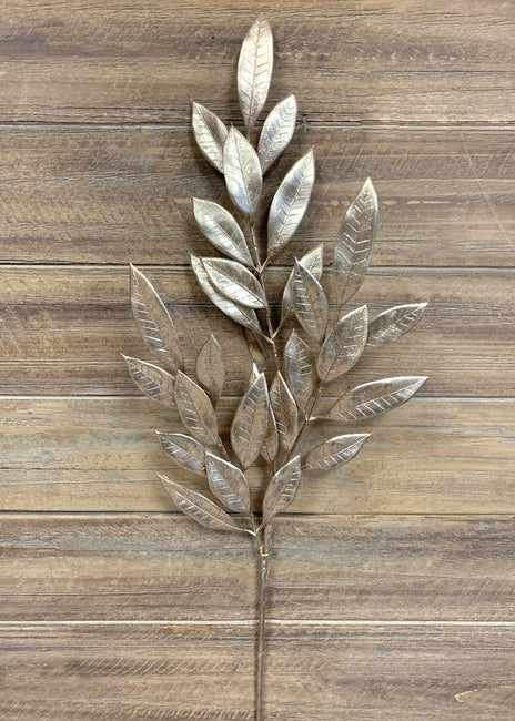 "ITEM 81468 CH - 26"" CHAMPAGNE MAGNOLIA LEAVES SPRAY"