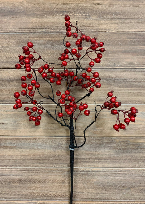 "ITEM 81478 R - 26"" RED WEATHER RESISTENT BERRIES SPRAY"