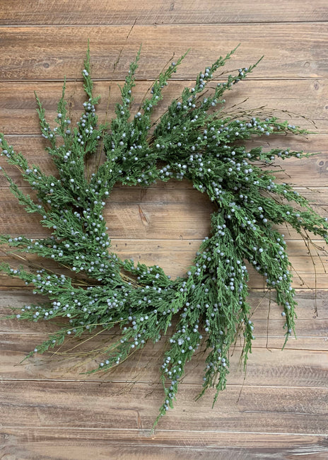 "ITEM 81525 - 24"" JUNIPER AND CYPRESS WREATH"