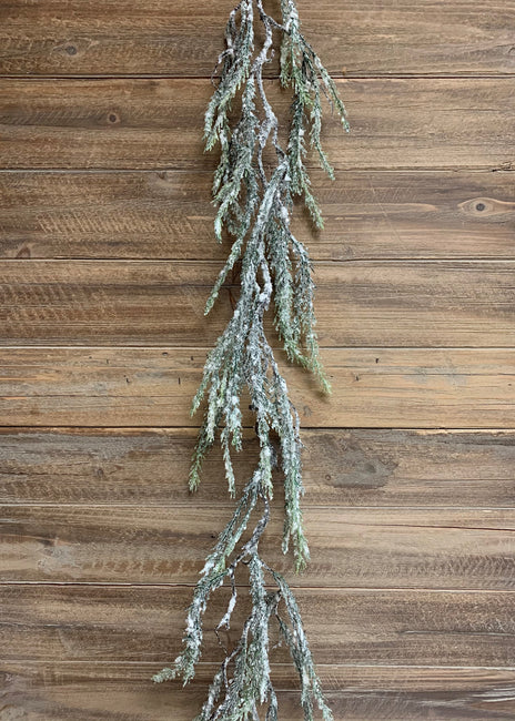 ITEM 81557 - 6' SNOWY WHISPY PINE GARLAND