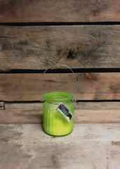 ITEM AD2892 - GREEN CITRONELLA LANTERN