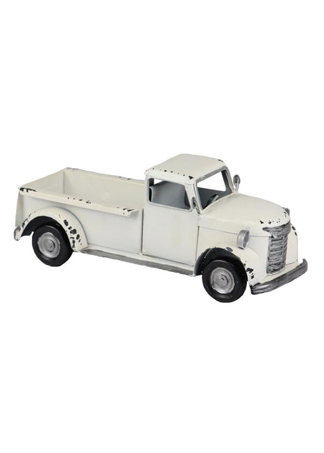 "ITEM AM 039933- 10""X4"" ANTIQUE WHITE METAL TRUCK"