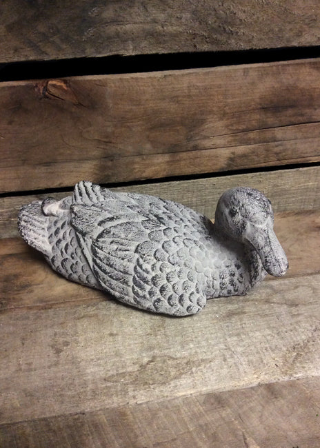"ITEM AS4696 - 9""X5""X3.5"" STONE DECO DUCK"