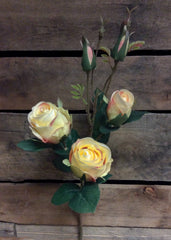 "ITEM 00945 Y - 21"" YELLOW ROSE SPRAY WITH 3 HEADS"