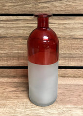 "ITEM FS8091337 - 3""X8"" FROSTED WHITE/RED BUD VASE"