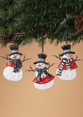 "ITEM G2313470 - 4""H CLAY DOUGH SNOWMAN ORNAMENT"