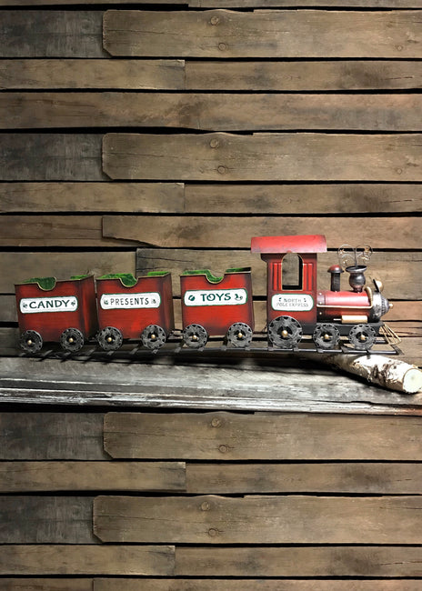 "ITEM G2349320 - 37.5""L METAL HOLIDAY ""NORTH POLE EXPRESS"" TRAIN ON TRACK"