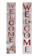 "ITEM G2425500 - 47.25""H WOOD HOLIDAY ""WELCOME"" PORCH SIGN"