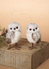 "ITEM G2433860 - 4.25""H FAUX FUR OWL FIGURINE"