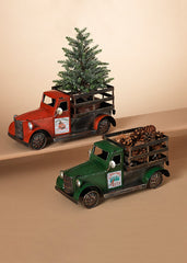 "ITEM G2484150 - 12.20""L HOLIDAY METAL TRUCK WITH MAGNETS"