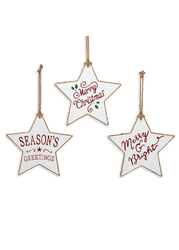 "ITEM G2488360 - 11.6""H METAL HOLIDAY STAR ORNAMENT"