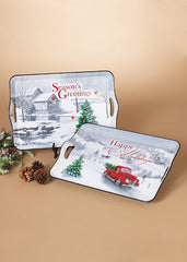 "ITEM G2489090 - 17.3""L HOLIDAY FARM SCENE TRAY"