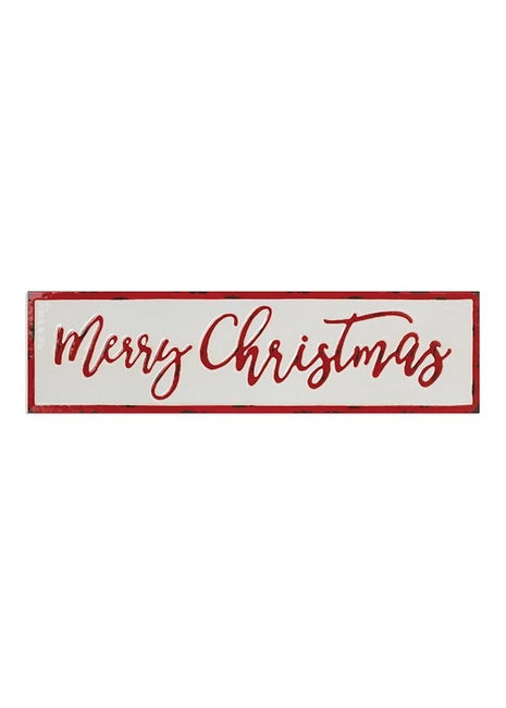 "ITEM G2501030 - 26""L METAL ""MERRY CHRISTMAS"" WALL DECOR"
