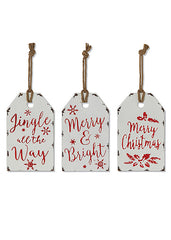 "ITEM G2536980 - 12""H METAL HOLIDAY SIGN ORNAMENT"