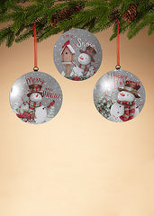 "ITEM G2542540 - 6.6""H METAL SNOWMAN ORNAMENT"