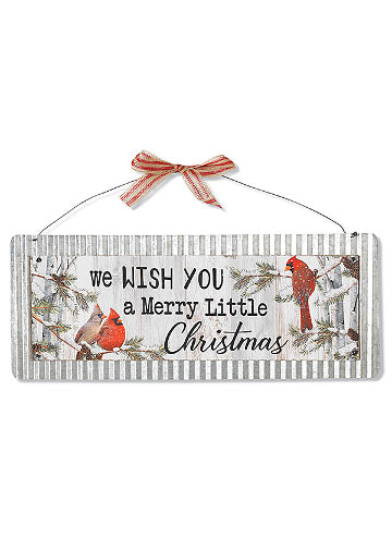 "ITEM G2543630 - 20""L WOOD & METAL HOLIDAY SIGN WALL DECOR"