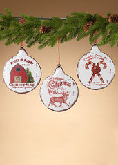 "ITEM G2544610 - 8.6""H METAL HOLIDAY DESIGN ORNAMENT"