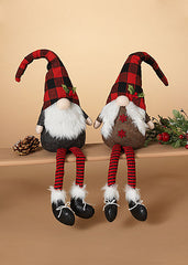 "ITEM G2550910 - 24""H PLUSH HOLIDAY GNOME SHELF SITTER"