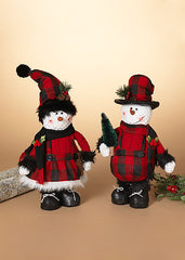 "ITEM G2550950 - 15""H PLUSH BOY OR GIRL STANDING SNOWMAN"