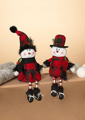 "ITEM G2550970 - 15""H PLUSH BOY OR GIRL SHELF SITTER SNOWMAN"