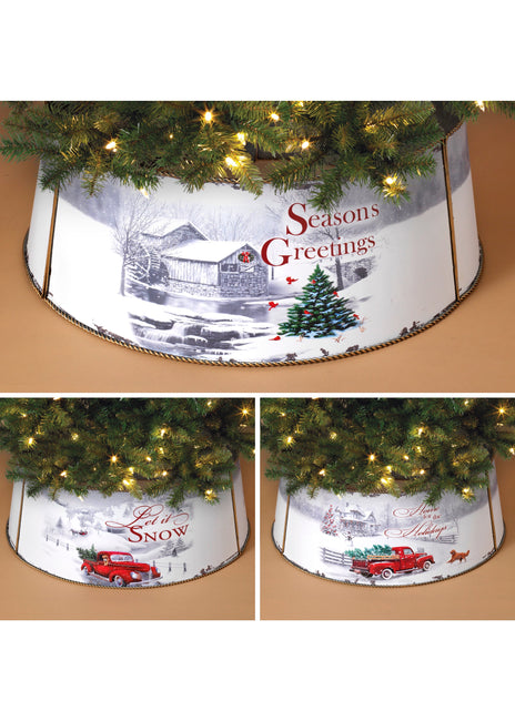 "ITEM G2590290 - 27.75""L METAL HOLIDAY DESIGN TREE COLLAR"