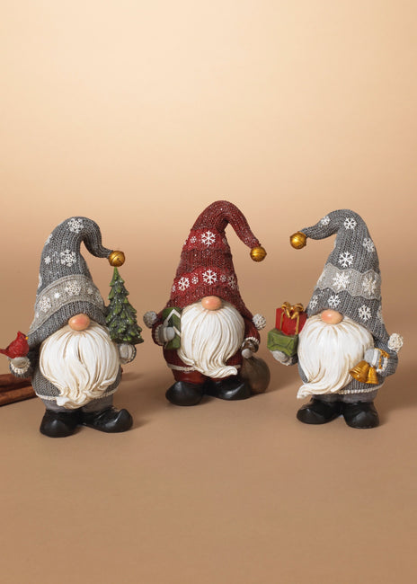 "ITEM G2595390 - 6.1""H RESIN HOLIDAY GNOME FIGURINE"
