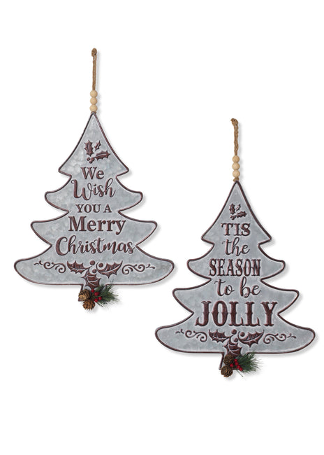 "ITEM G2595660 - 16""H METAL CHRISTMAS TREE ORNAMENT W/ PINE ACCENT"