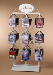 "ITEM G2597090 - 7.8"" B/O LIGHTED CHRISTMAS CANVAS PAINTING W/ METAL DISPLAY RACK"
