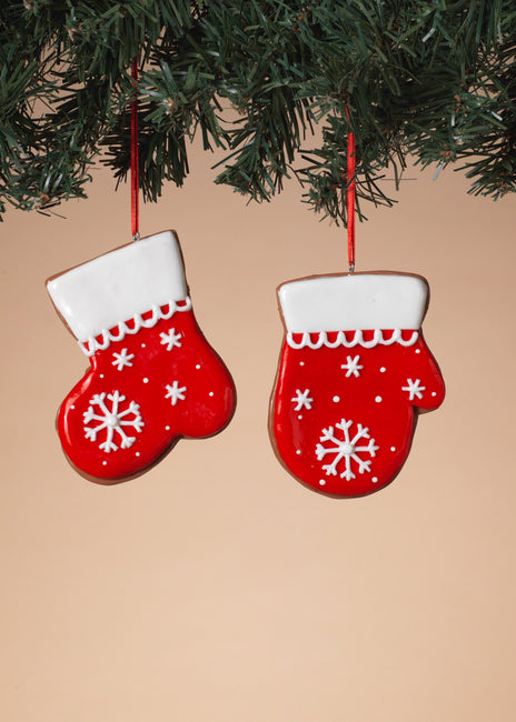 "ITEM G2597220 - 3.75""L CLAY DOUGH HOLIDAY MITTEN & STOCKING ORNAMENT"