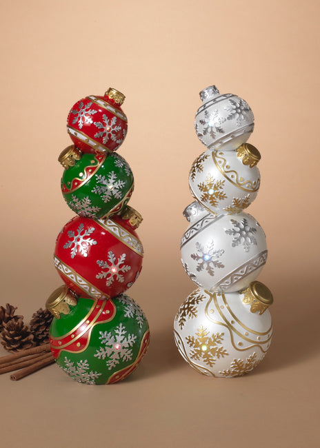 "ITEM G2604380 - 15.5""H B/O LIGHTED RESIN STACKING ORNAMENTS"